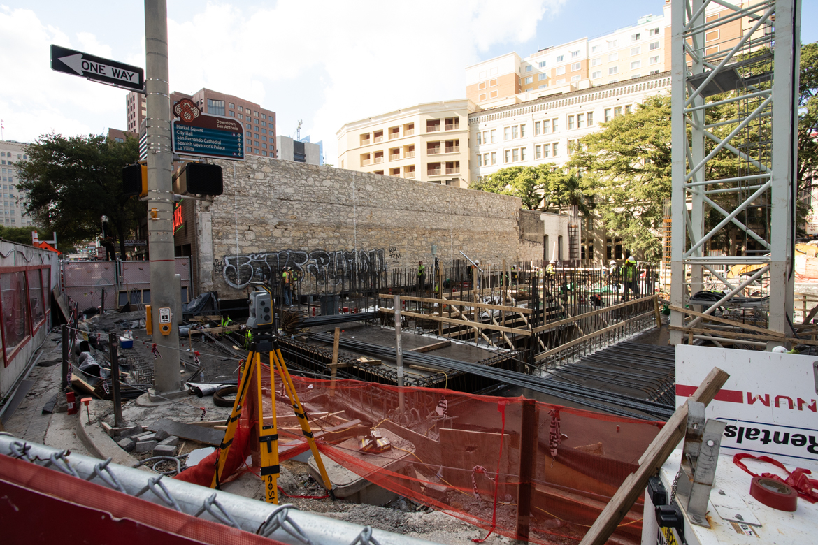 A Canopy by Hilton hotel is being constructed on the corner of North St. Mary's and Commerce streets.