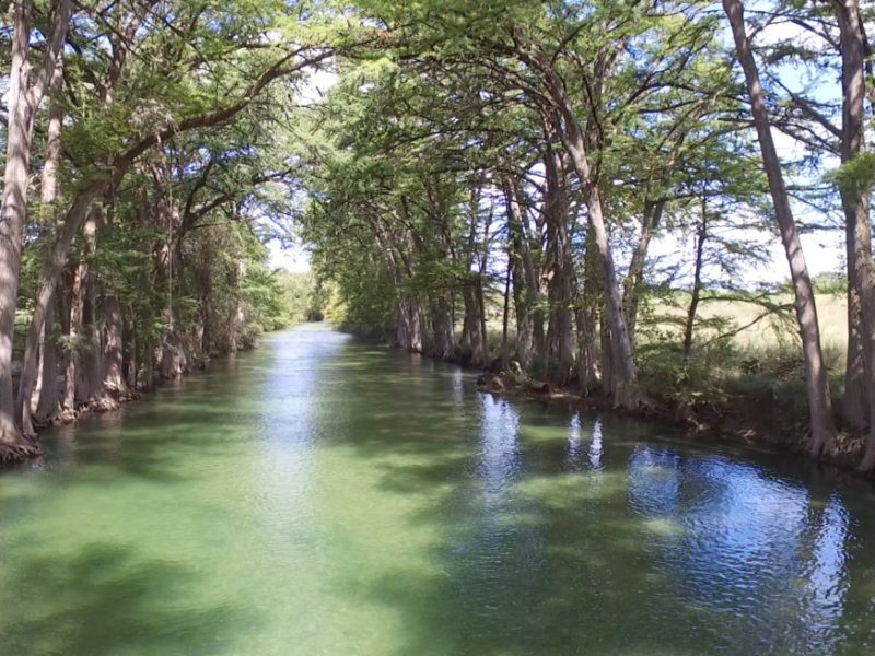 Conditions are prefect now to flow the upper Medina River between Medina and Bandera in Bandera County.