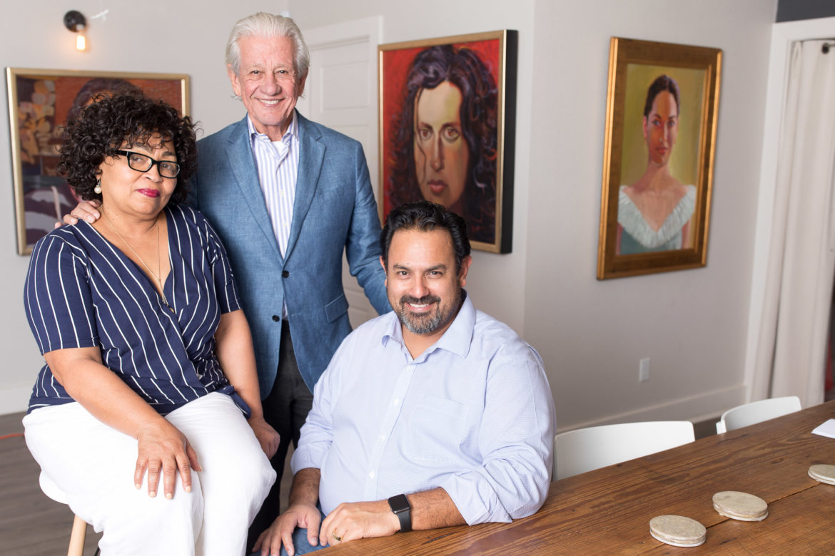 Yes! Our Kids Can staff (from left) COO Janine Richards, Founder and CEO Lionel Sosa, and President John Andrade.
