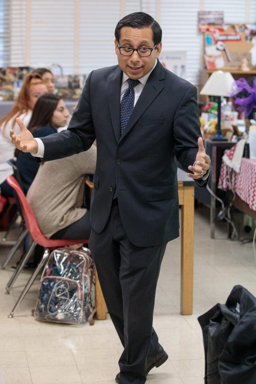 Texas State Representative Diego Bernal (D-123) teaches AP Government at Churchill High School.