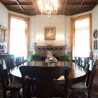 The dining room at the Maverick Carter House