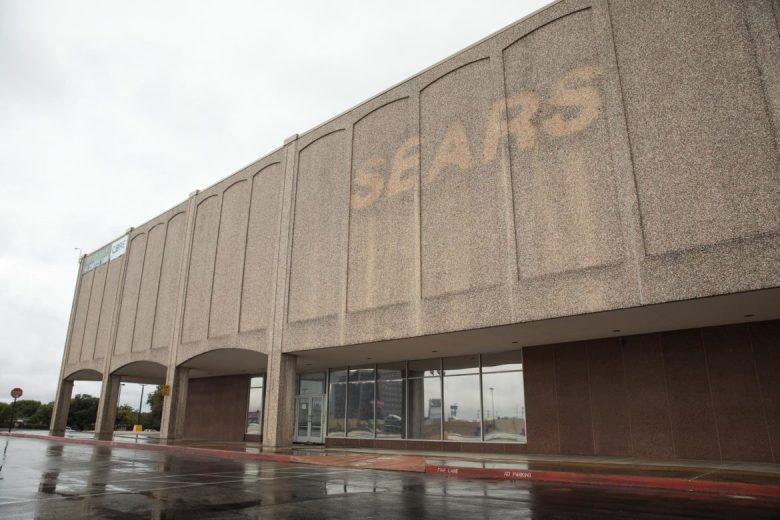 The Sears sign at the Park North location has been removed.
