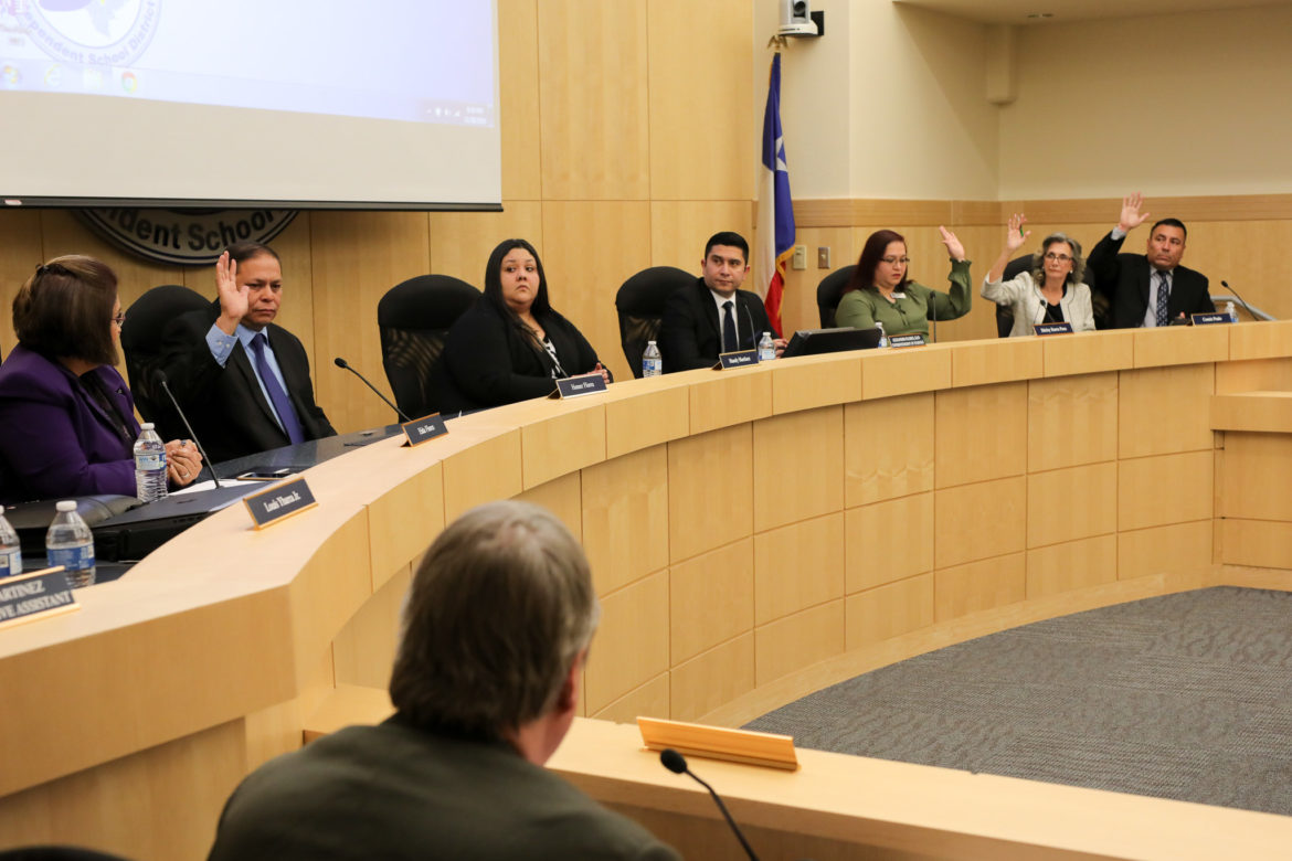 With four new trustees, the South San ISD board votes to place a new president, vice president, and secretary.