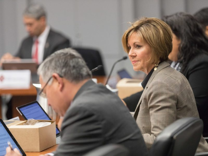 City Manager Sheryl Sculley attends a Governance Meeting on Tuesday.