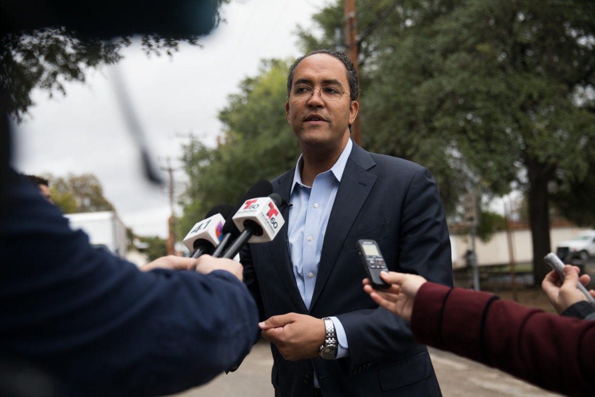 District 23 U.S. Congressman Will Hurd responds to reporters questions following the election.