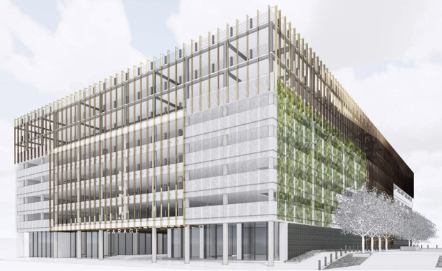 Two additional levels of parking could be added to the Travis Park Plaza garage.