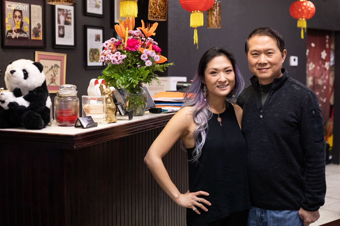 (From left) Sichuan House owners Kristina Zhao and her father Ye Zhao.