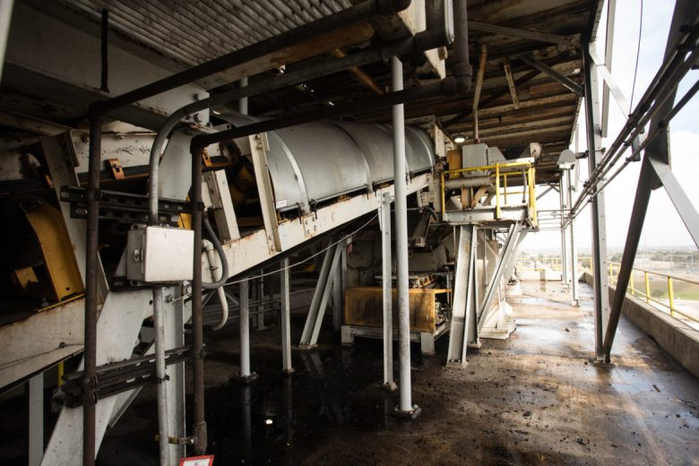 A conveyor belt that moved coal through the Deely plant.