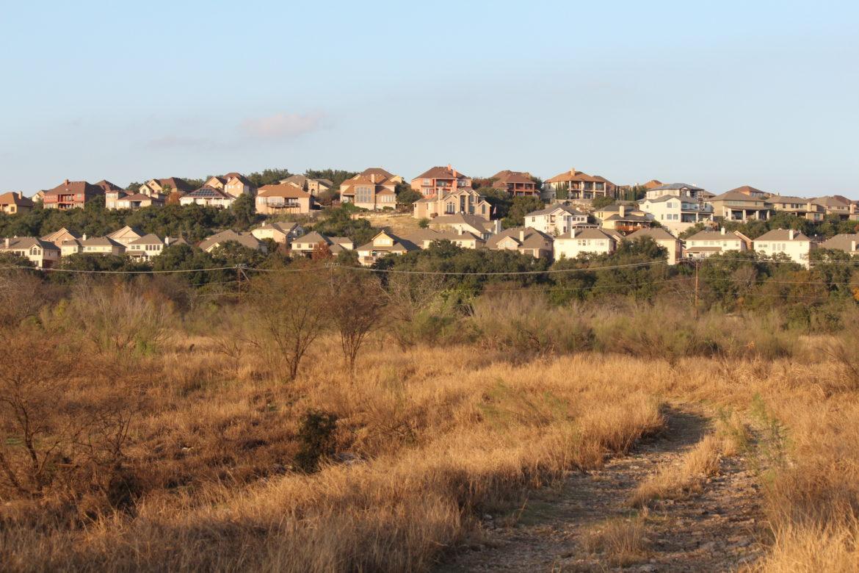 Housing developments completely surround the 245-acre Stone Oak Park.
