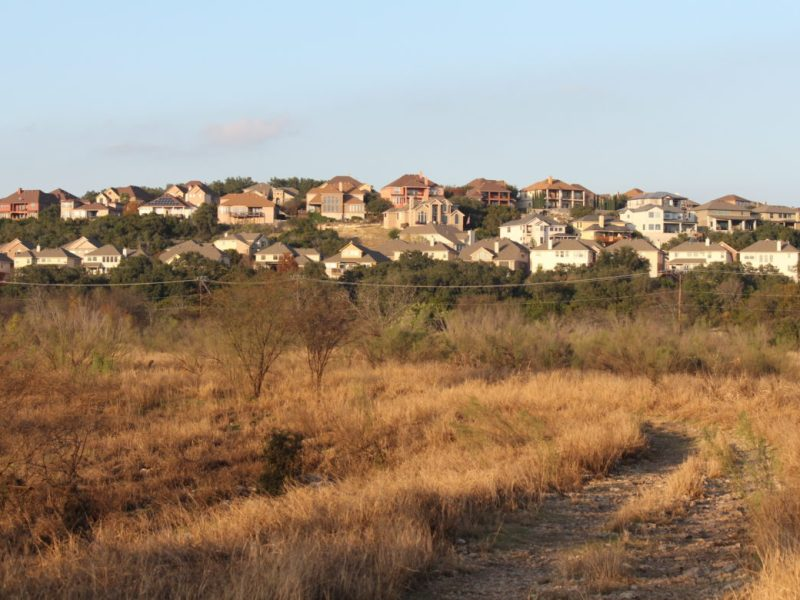 Housing developments completely surround the 245-acre Stone Oak Park.