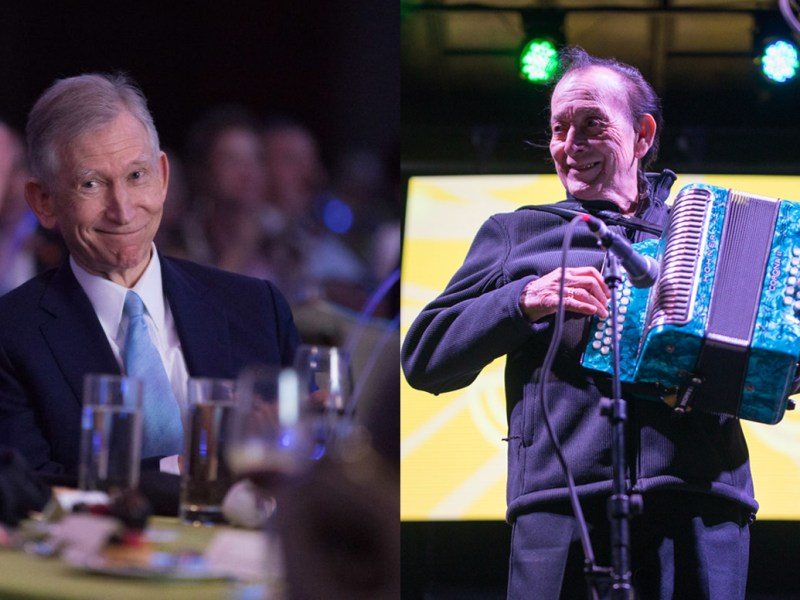 H-E-B Chairman Charles Butt (left) and music legend Flaco Jimenez are being awarded History-Making Texan Awards.