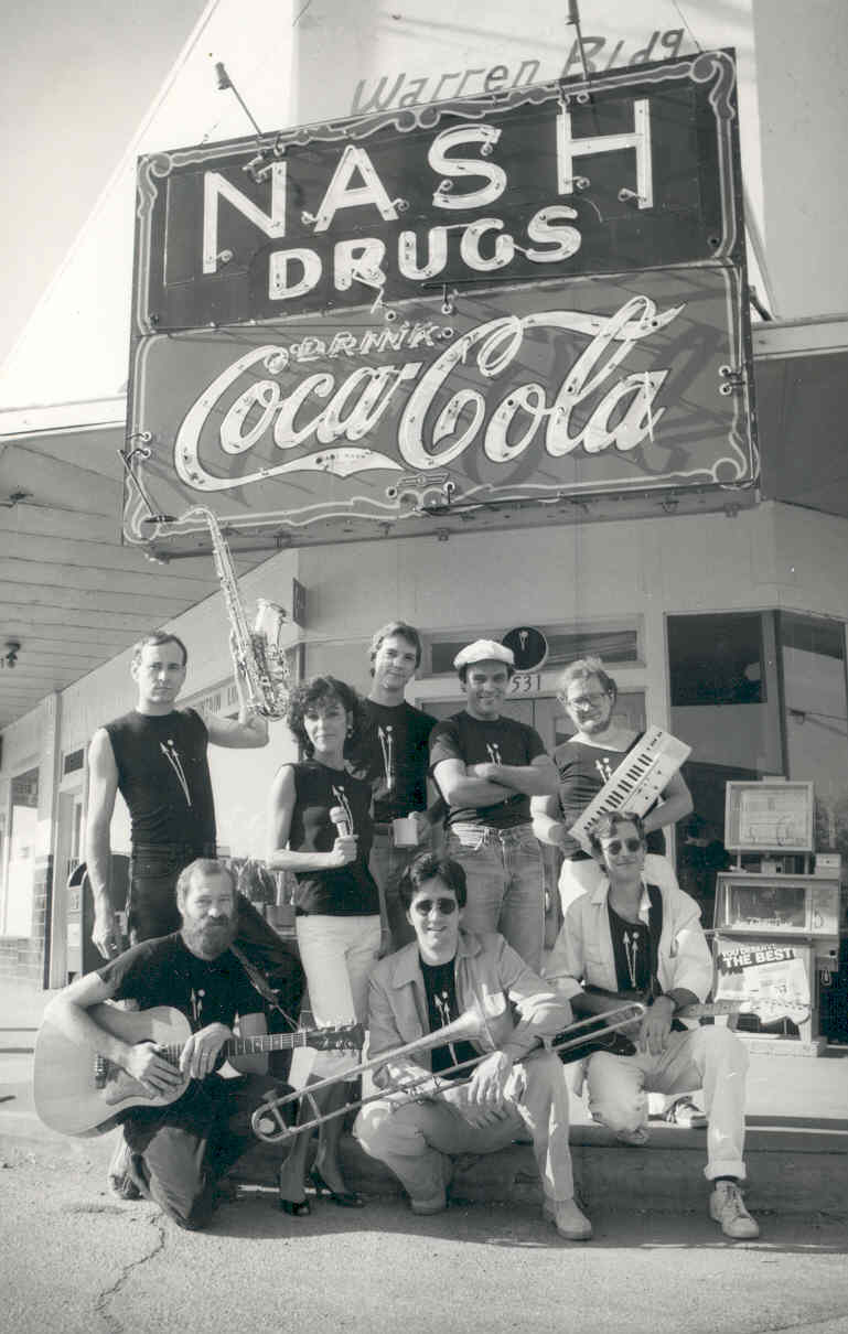 One Minute to Midnight in front of Nash Drugs in 1984.