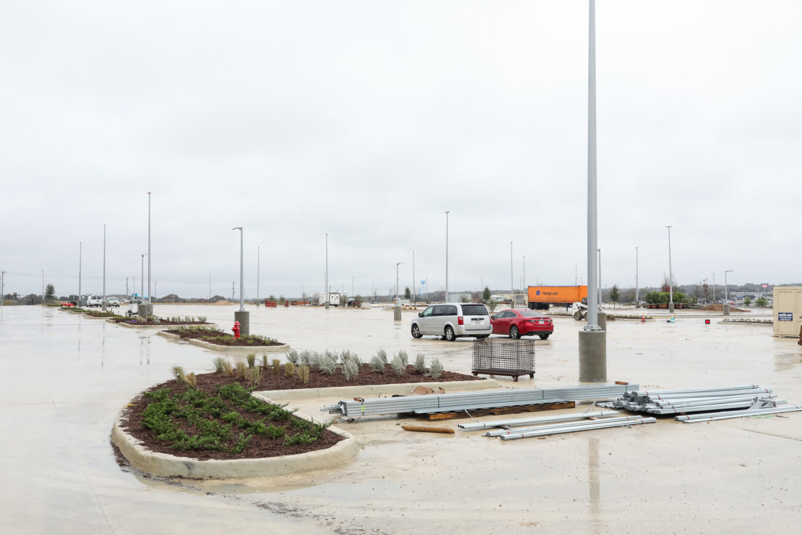 Hundreds of parking spots will be available while shopping.
