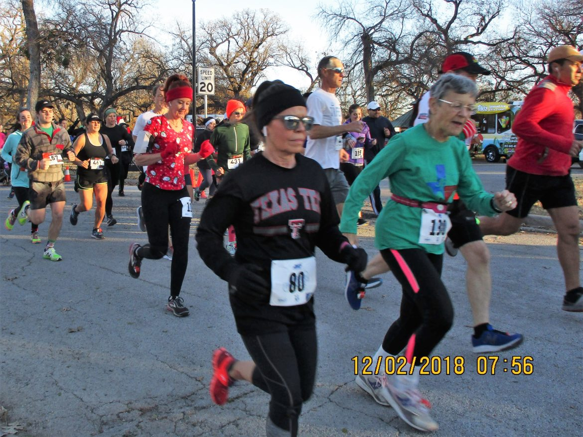 Mary Kaplin sets her pace at the beginning of the Tarrant County 5K needed to run all 254 Texas counties for a second time.