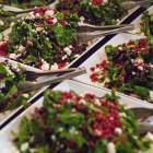 The wintergreen salad is prepped for dinner.