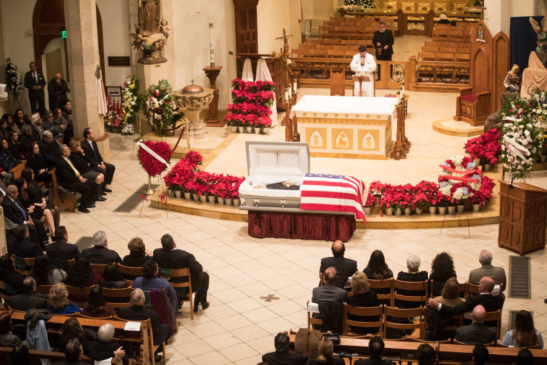 Paul Elizondo lies in repose at San Fernando Cathedral.