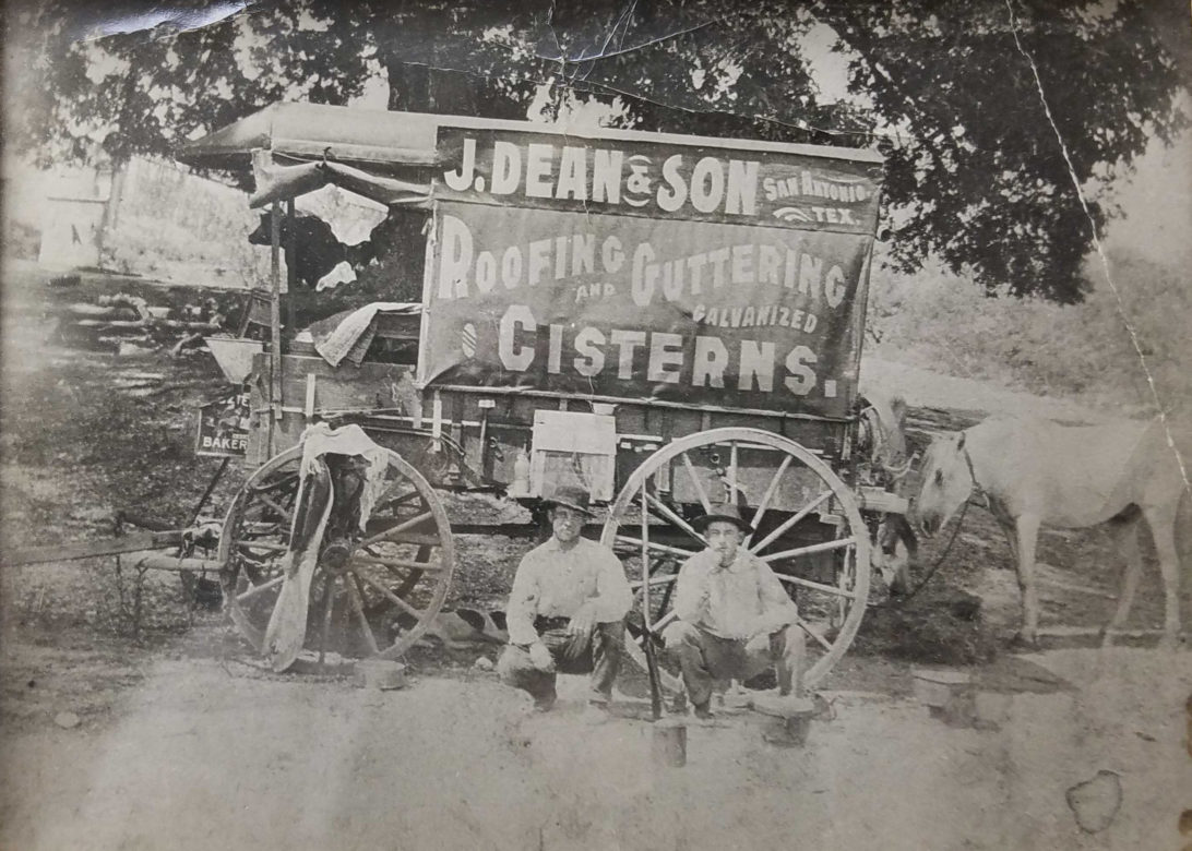 J. Dean & Son Roofing, Guttering, and Galvanized Cisterns founded in 1910.