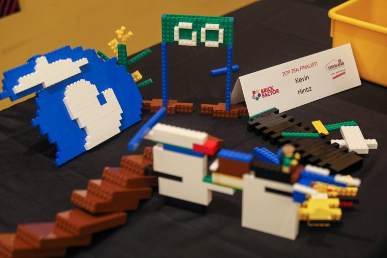 Completed lego builds by Kevin Hintz following the competition.