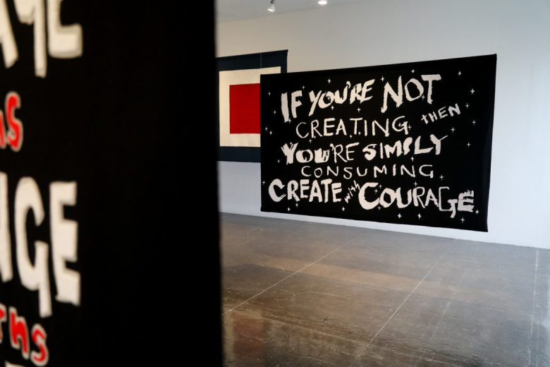 IF YOU'RE NOT CREATING THEN YOU'RE SIMPLY CONSUMING. CREATE WITH COURAGE