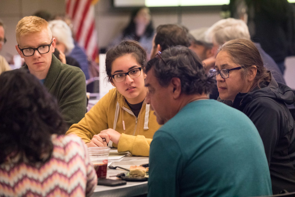 at the Climate Action and Adaptation Plan (CAAP) public meeting at San Antonio Central Library on Feb. 19, 2019.