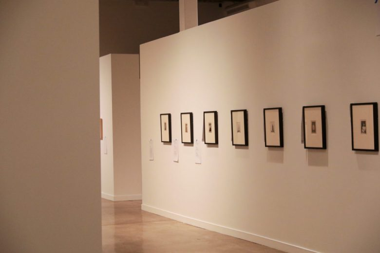 Finishing touches are put on the San Antonio Museum of Art exhibition Capturing the Moment which opens February 22nd.