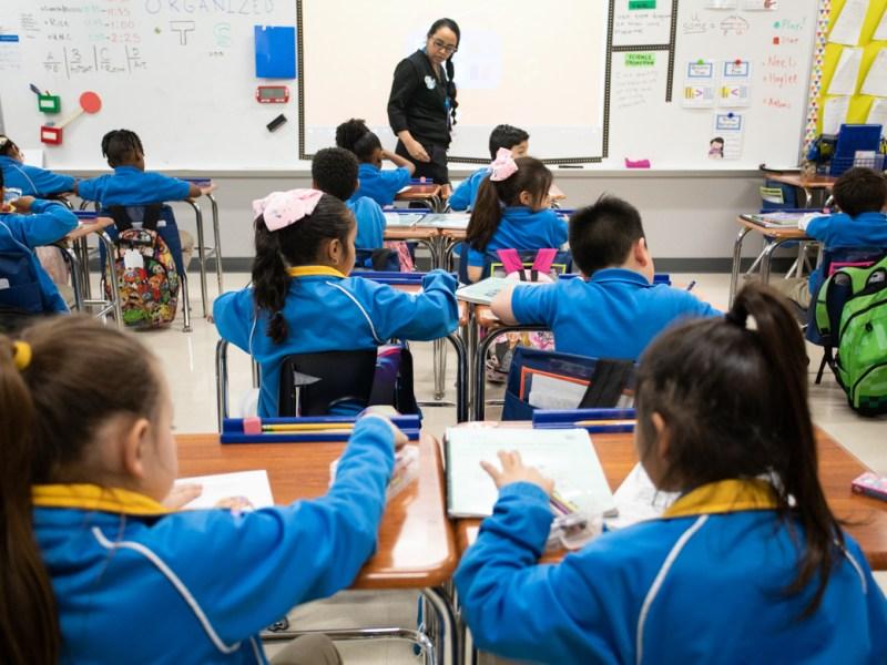 IDEA Ingram Hills first grade teacher Jasmine DeSha teaches her students about Ruby Bridges during Black History Month.