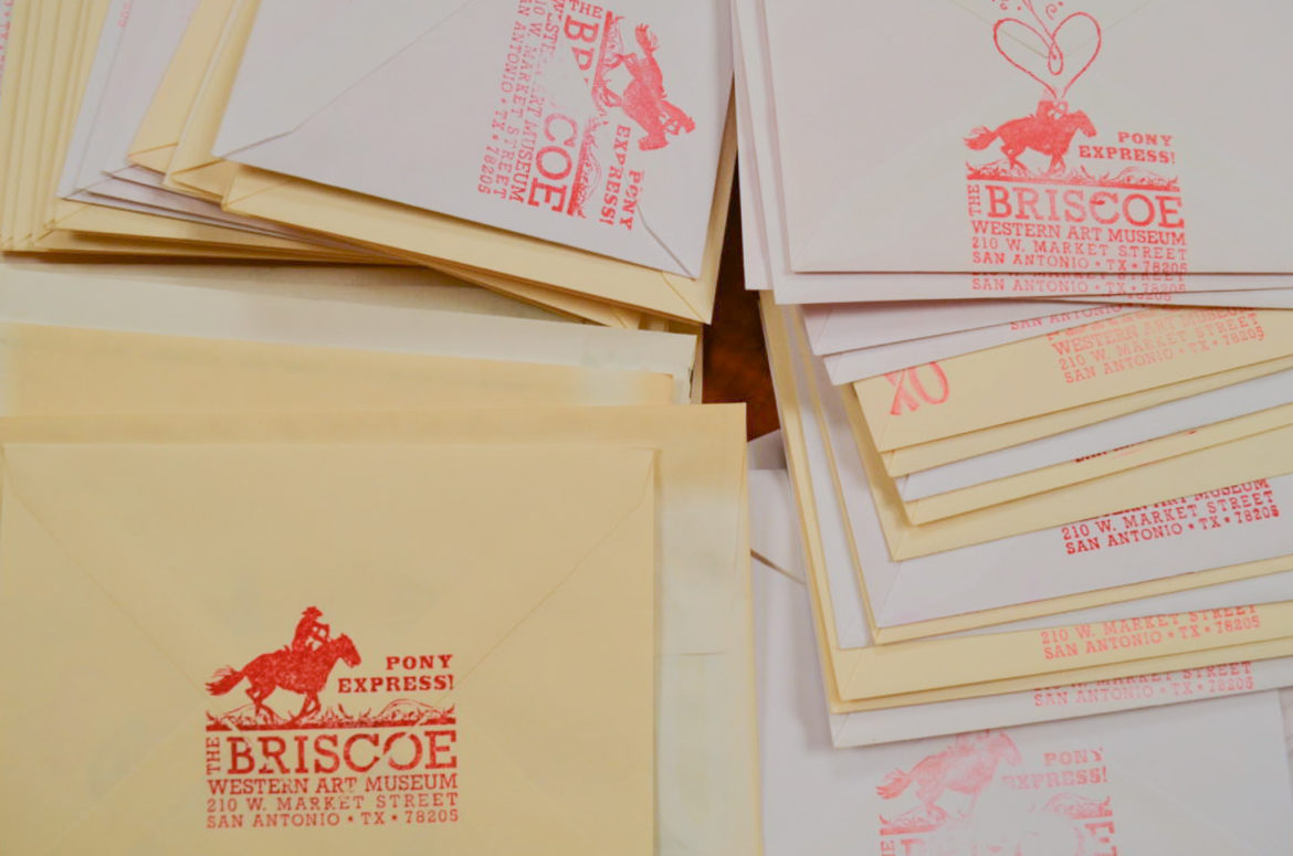 The Briscoe Western Art Museum's Pony Express will deliver personalized Valentine's Day letters to soldiers in recovery at Brooke Army Medical Center.