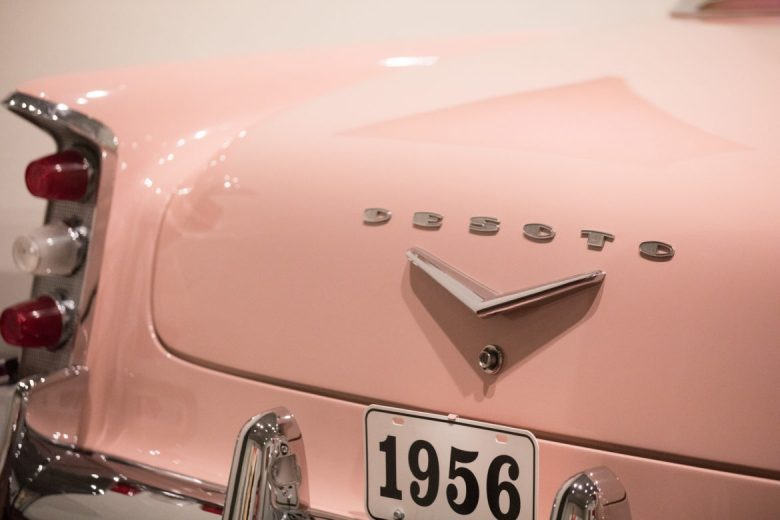 A DeSoto automobile is on display.