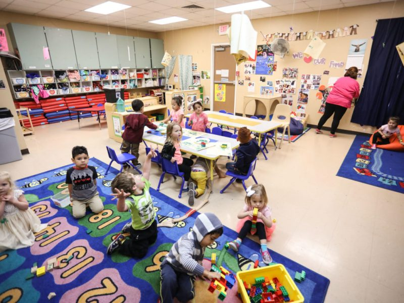 A classroom in the Brighton Center, Supporting Children with Delays or Disabilities.