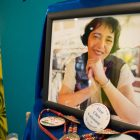 A photo of Mariana Ornelas is on display.