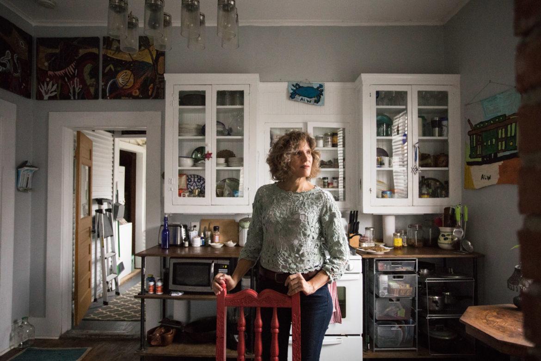 Linda Stone in her kitchen.