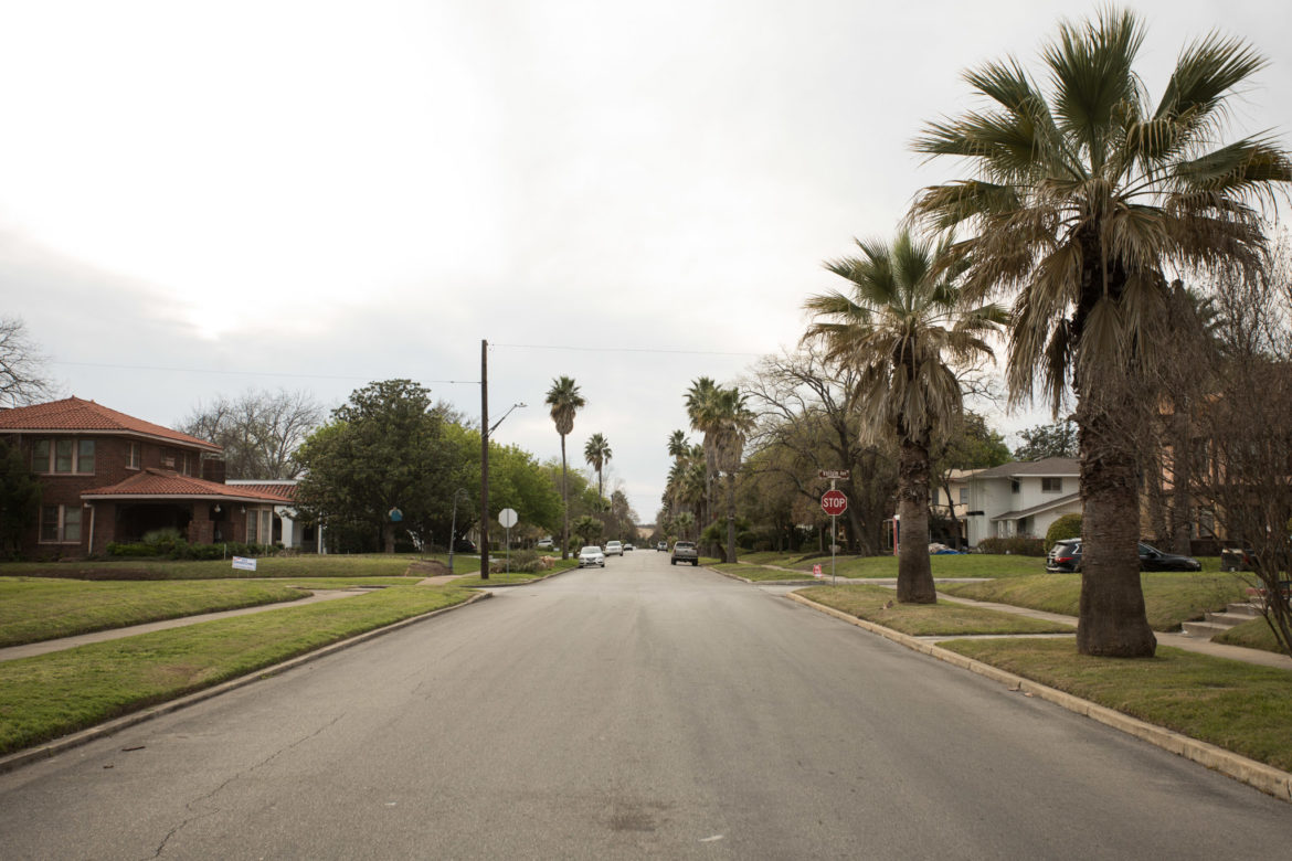 Monticello Park features wide streets with a lot of parking.