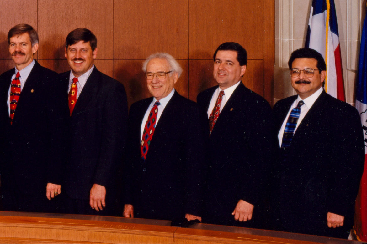 (2nd from right) Former District 6 Councilman Bobby Herrera is looking to take back his seat which he held in 1996.