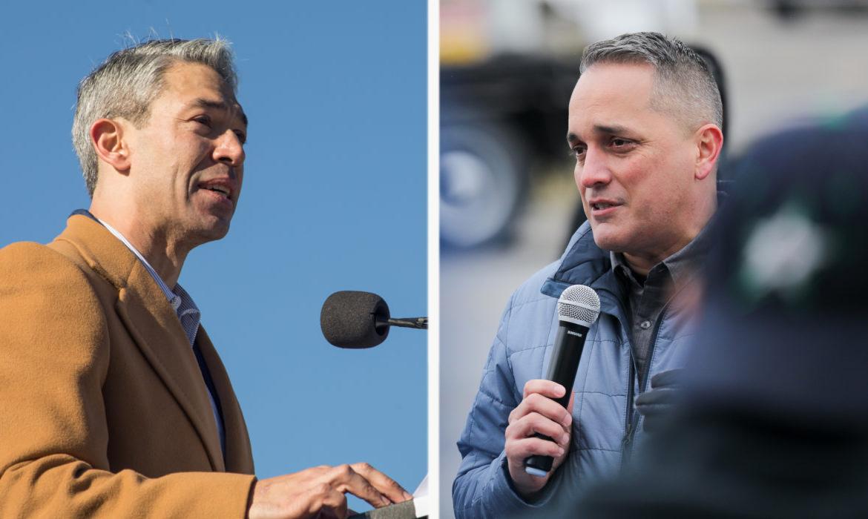 (left) Mayor Ron Nirenberg and Councilman Greg Brockhouse (D6) will be debating a