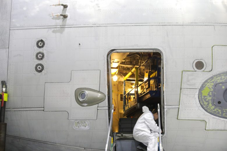 Workers spend thousands of hours working on upgrades and modifications for the C-17 planes.