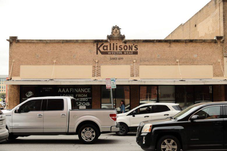 Kallison's Western Wear located on South Flores Street.