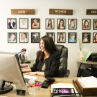 Claudia Ramon, Condra Artista owner and agent, works in her office.