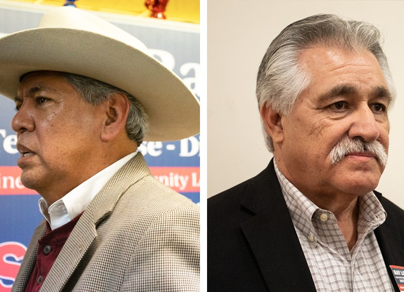 Texas House District 125 candidates (from left) Republican Fred Rangel and Democrat Ray Lopez.