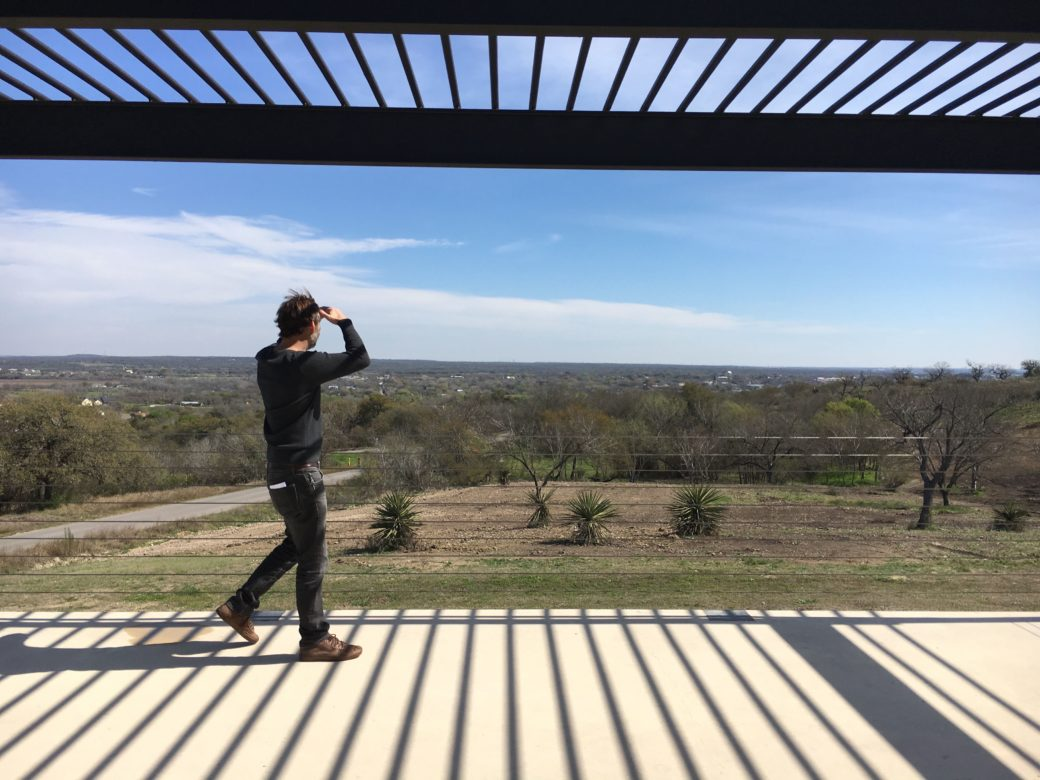 John Winkler looks at the view from Hillside Boutique Hotel.