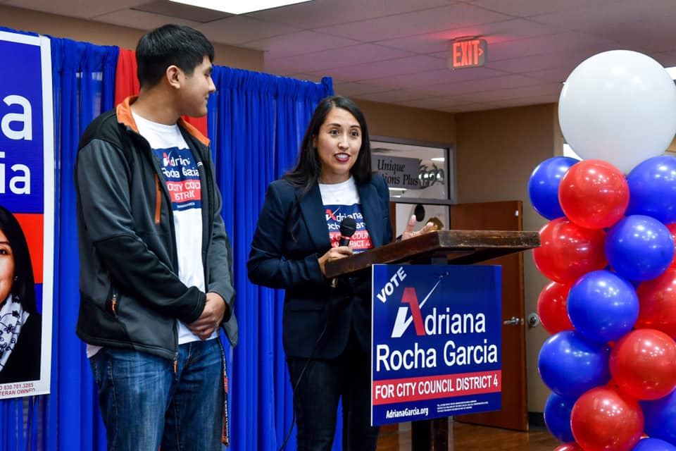 Adriana Rocha Garcia is campaigning to be City Council District 4 councilwoman.