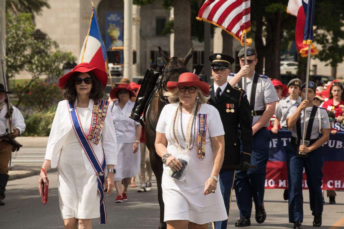 (From left) Barbara Stevens, President General of the Daughters of the Republic of Texas, and Mary Wieser, Alamo Mission Chapter Daughters of the Republic of Texas President.