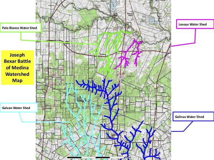 Joseph Bexar's watershed map