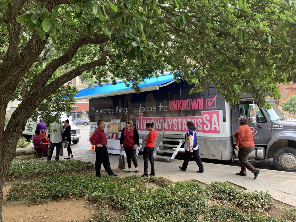 The San Antonio Metropolitan Health District's mobile clinic.