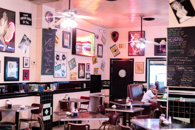 The interior of the 410 Diner.