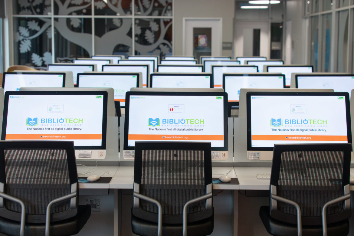 Bibliotech is an all digital public library currently serving the new West and East sides of town.