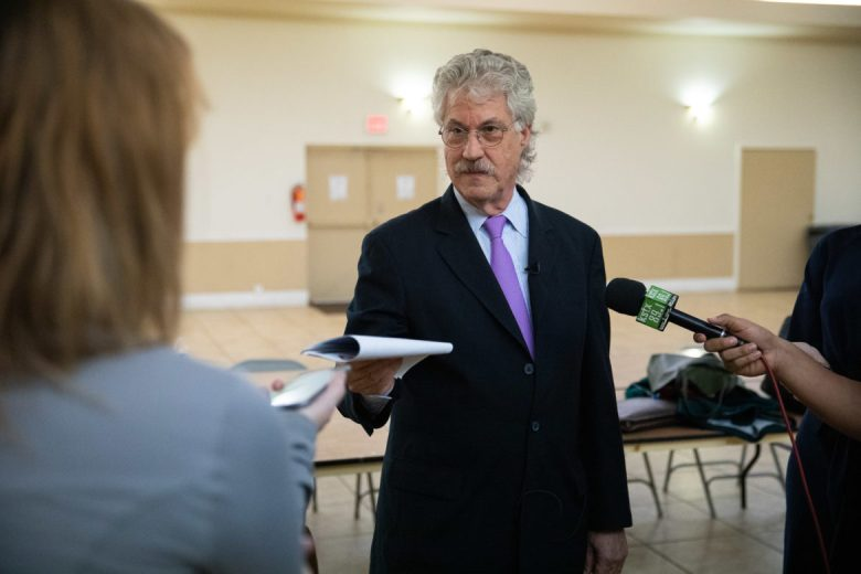 Lead negotiator at the City of San Antonio Jeff Londa debriefs with reporters following negotiations.