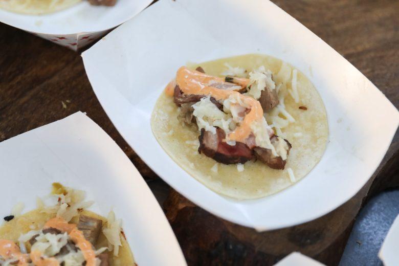 Jalapeño brined beef by Chef Joel 'Tatu' Herrera of Folklores Coffee House.