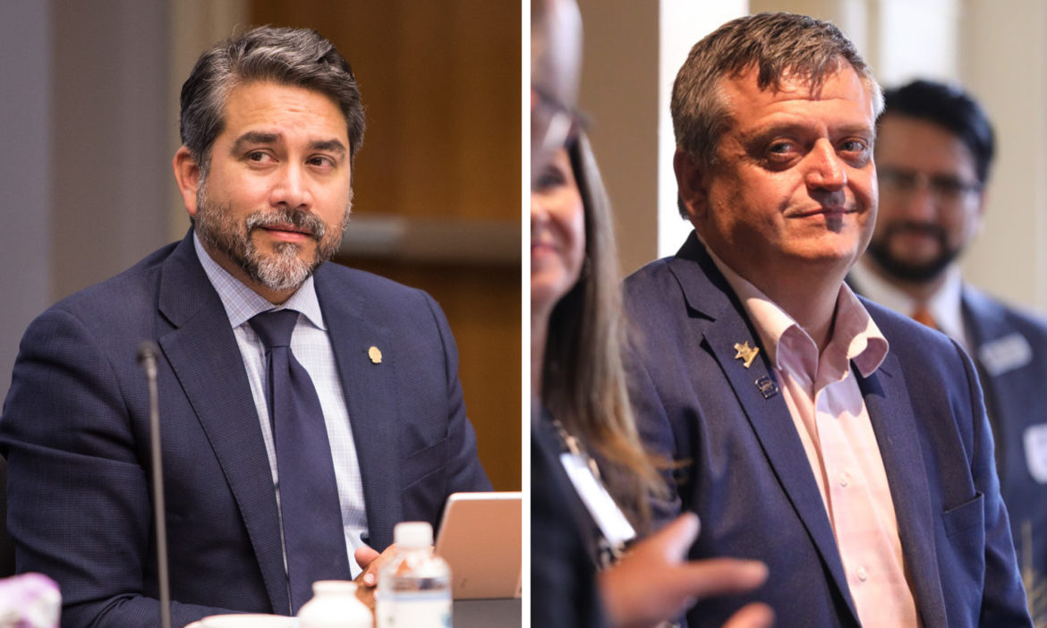 (from left) Incumbent Councilman Roberto Treviño is seeking his 3rd term and is facing a formidable challenger in Justin Holley.
