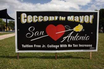 The campaign poster for Bert Cecconi.