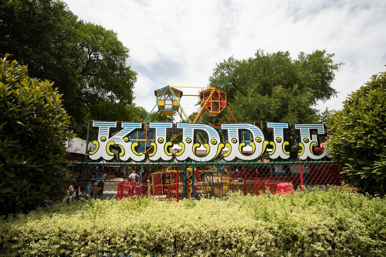 The Kiddie Park signage on Broadway Street. Photos taken on April 11, 2019.